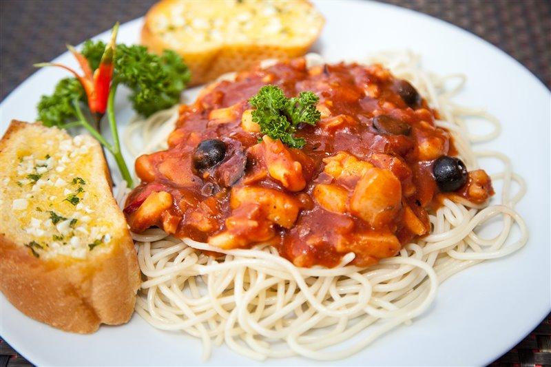 great pasta at scandi divers resort
