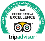 trip advisor travellers choice hall of fame award 2018